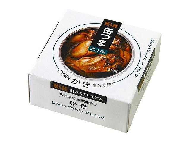 缶つまプレミアム 広島県産 かき燻製油漬け