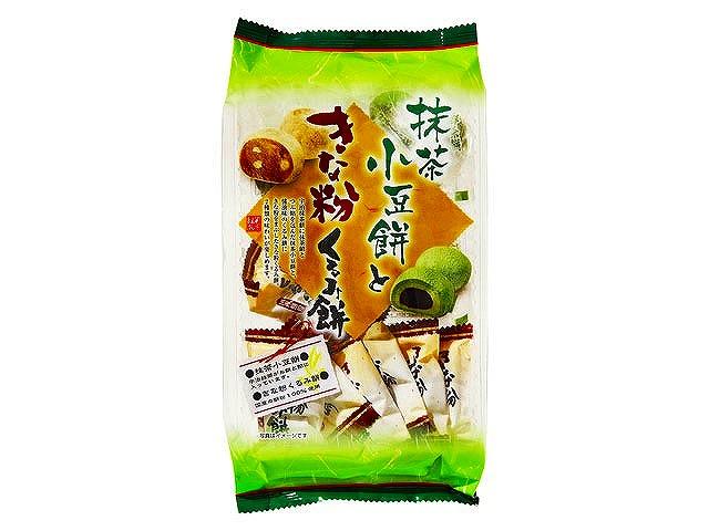抹茶小豆餅ときな粉くるみ餅