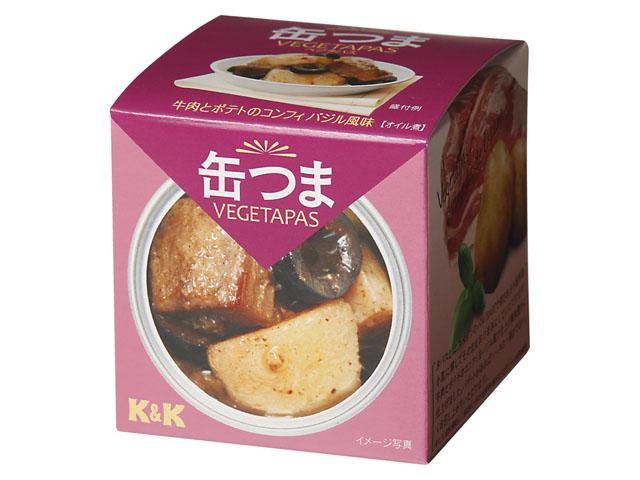缶つまVEGETAPAS 牛肉とポテトのコンフィ バジル風味